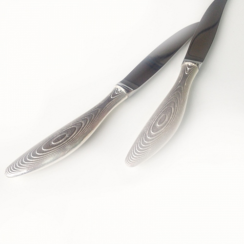 STRATUS, steak knife, silver-plated bronze or gold-plated - © Lauret Studio